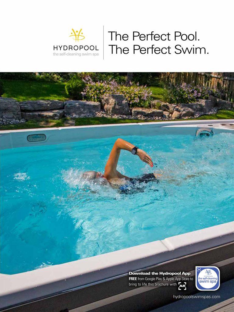 Woman swimming in Hydropool