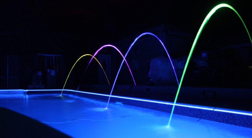 Pool Light, deck Jets