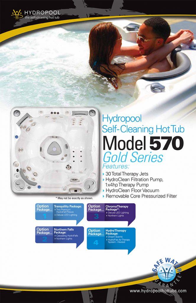 hydropool self cleaning hot tub model 570