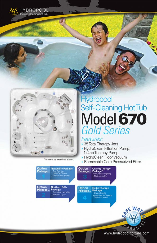 hydropool self cleaning hot tub model 670