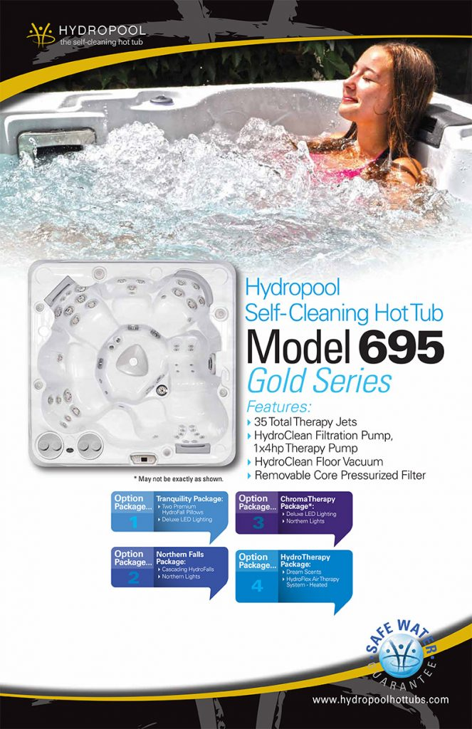 hydropool self cleaning hot tub model 695