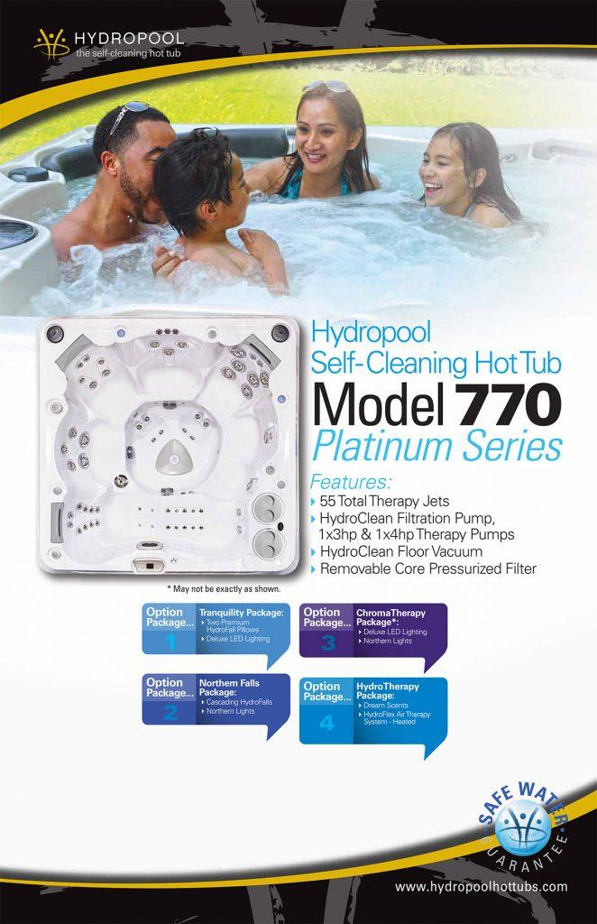 Hydropool Self-cleaning hot Tub Model 770