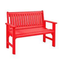 Garden Bench red