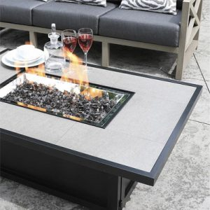 Outdoor electric firepit