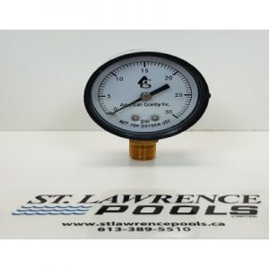 Pressure Gauge 0-30 PSI Side