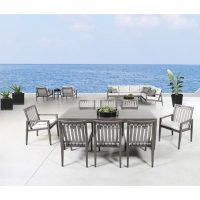 Large Partio set outside overlooking the water