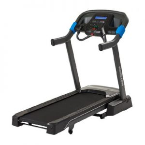 sideview of Horizon 7.0AT Studio Series Folding Treadmill