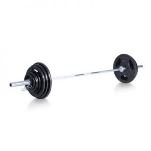 XM 300lbs Steel Olympic Weight Set with Bar